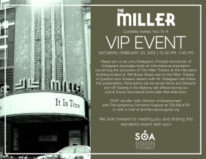 The Miller Theater VIP Event